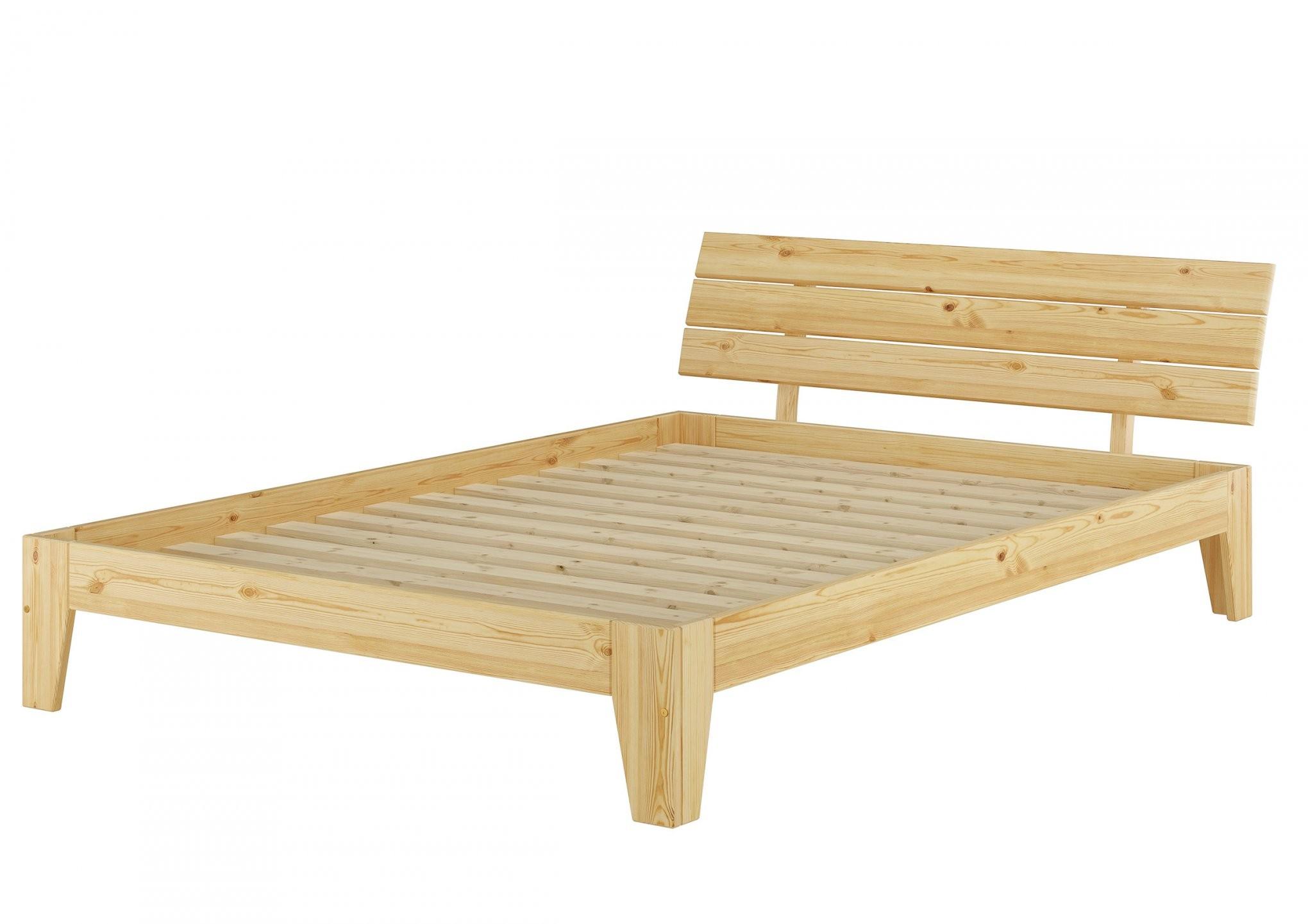 Massivholz Bett 140X200 Mit Rollrost Betten Naturholz Betten Aus von Bettgestell 140X200 Holz Photo