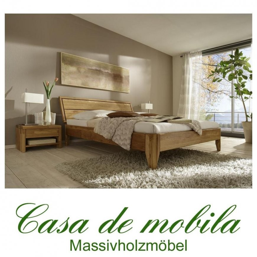 Massivholz Bett 140X200 Xl Easy Sleep Eiche Massiv Geölt 9414+723 von Massivholz Bett 200X200 Photo