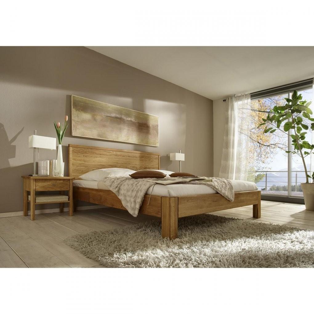 Massivholz Bett 180X200 Xl Easy Sleep Eiche Massiv Geölt 9318+933 von Bett Eiche Massiv 180X200 Bild