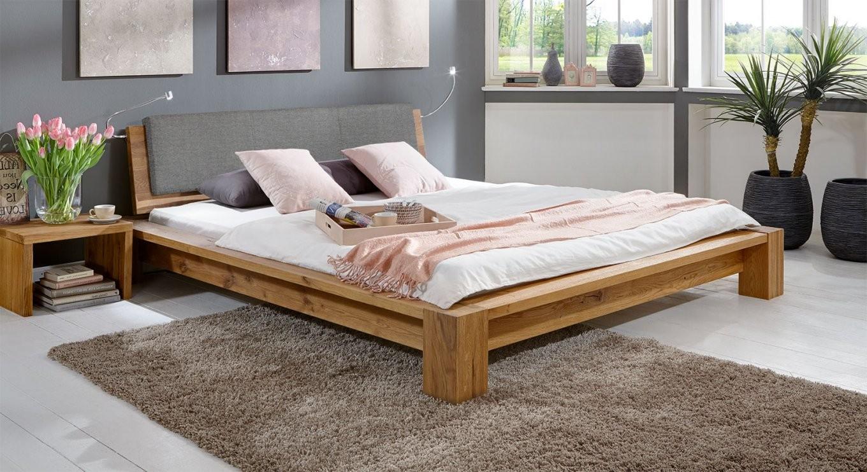 Massivholz Bett Aus Geölter Wildeiche Zb 180X200  Domingo von Echtholz Bett 180X200 Bild