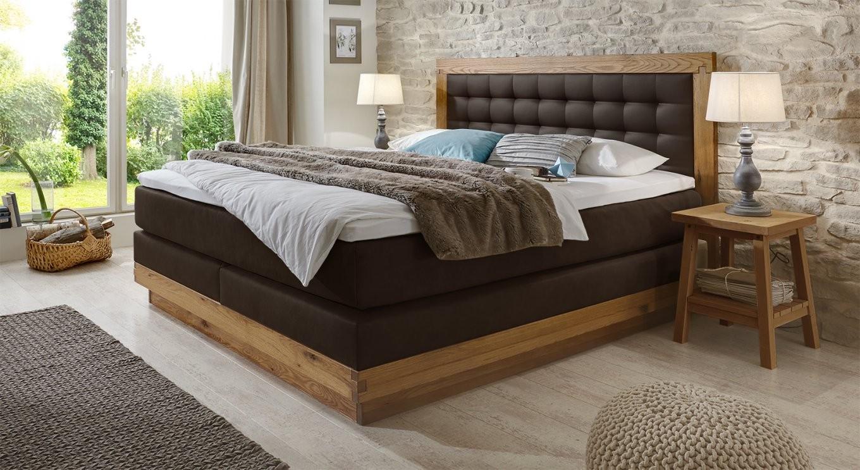 Massivholz Boxspringbett Aus Wildeiche Kaufen  Galicia von Boxspring Bett 200X220 Bild