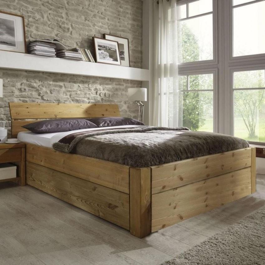 Massivholz Doppelbett 160X200 Schubladen Bett Höhe 45Cm Kiefer von Bettgestell 160X200 Mit Schubladen Photo