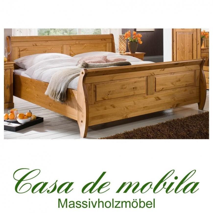 Massivholz Doppelbett Kiefer Massiv Roland  180X200 Honig Lackiert von Bett Landhausstil 180X200 Bild