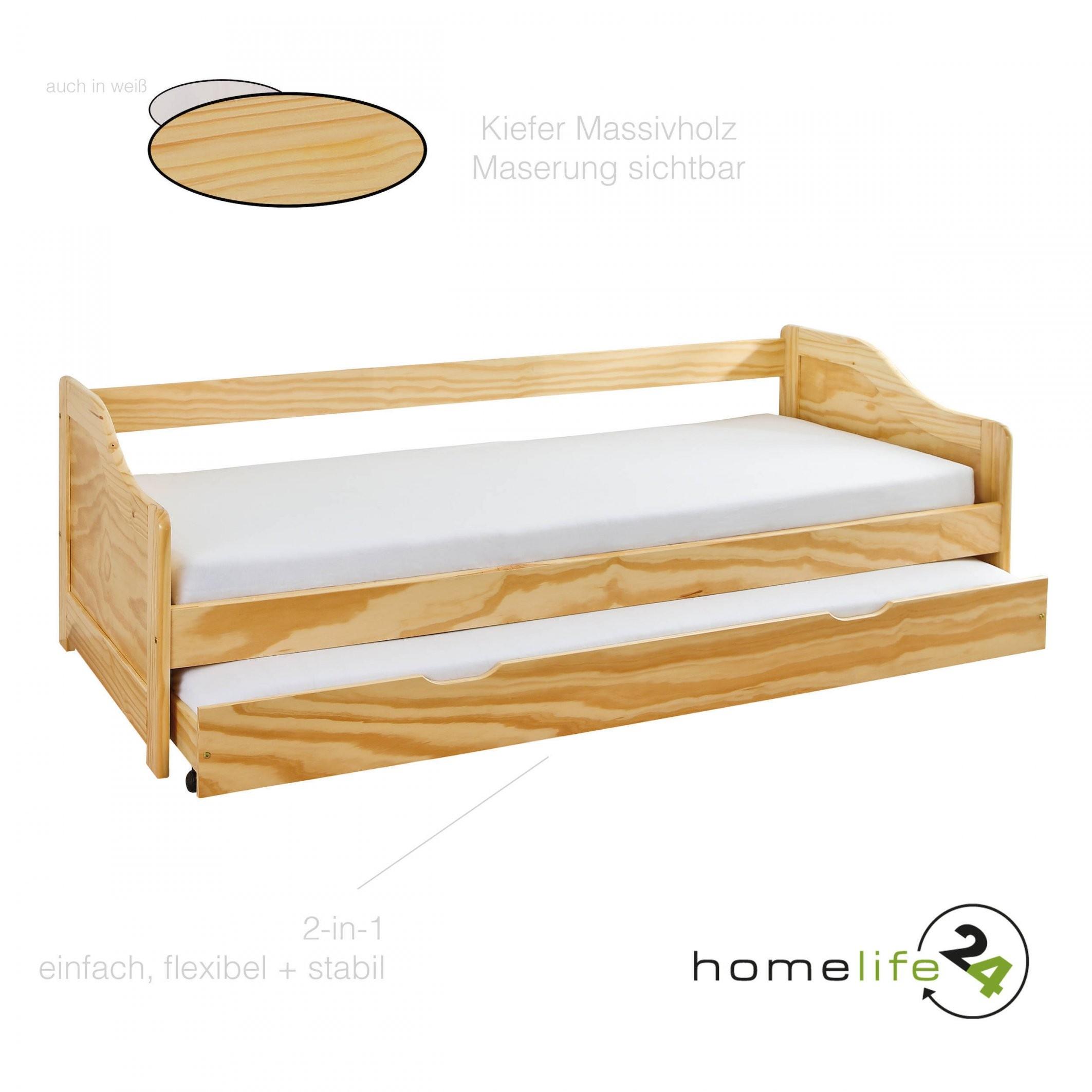 Massivholzbett 90X190 Cm Kinderbett Bett Funktionsbett Kojenbett von Bett 90X190 Mit Bettkasten Bild