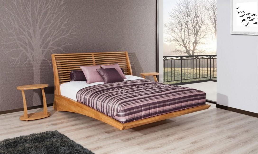 Massivholzbett Bett Schlafzimmerbett Fresno Eiche Massiv 180X200 Cm von Bett Eiche Massiv 180X200 Bild
