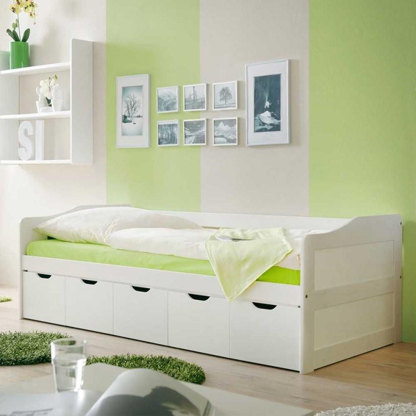 Massivholzbett Fiorina Mit Schubladen von Weißes Bett Mit Schubladen Bild