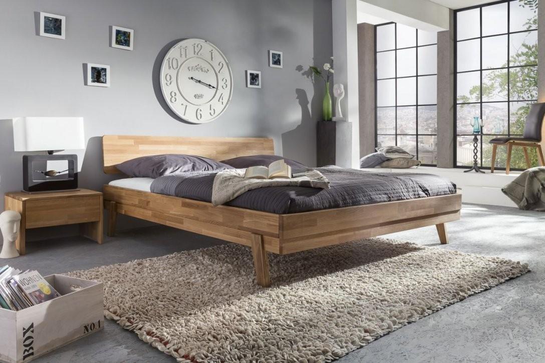 Massivholzbett Schlafzimmerbett  Via  Bett Wildeiche 200X200 Cm von Bett Eiche 200X200 Photo