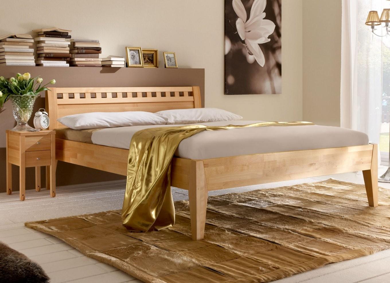 Massivholzbetten  Betten Aus Massivholz Günstig Kaufen von Bettgestell 160X200 Holz Bild