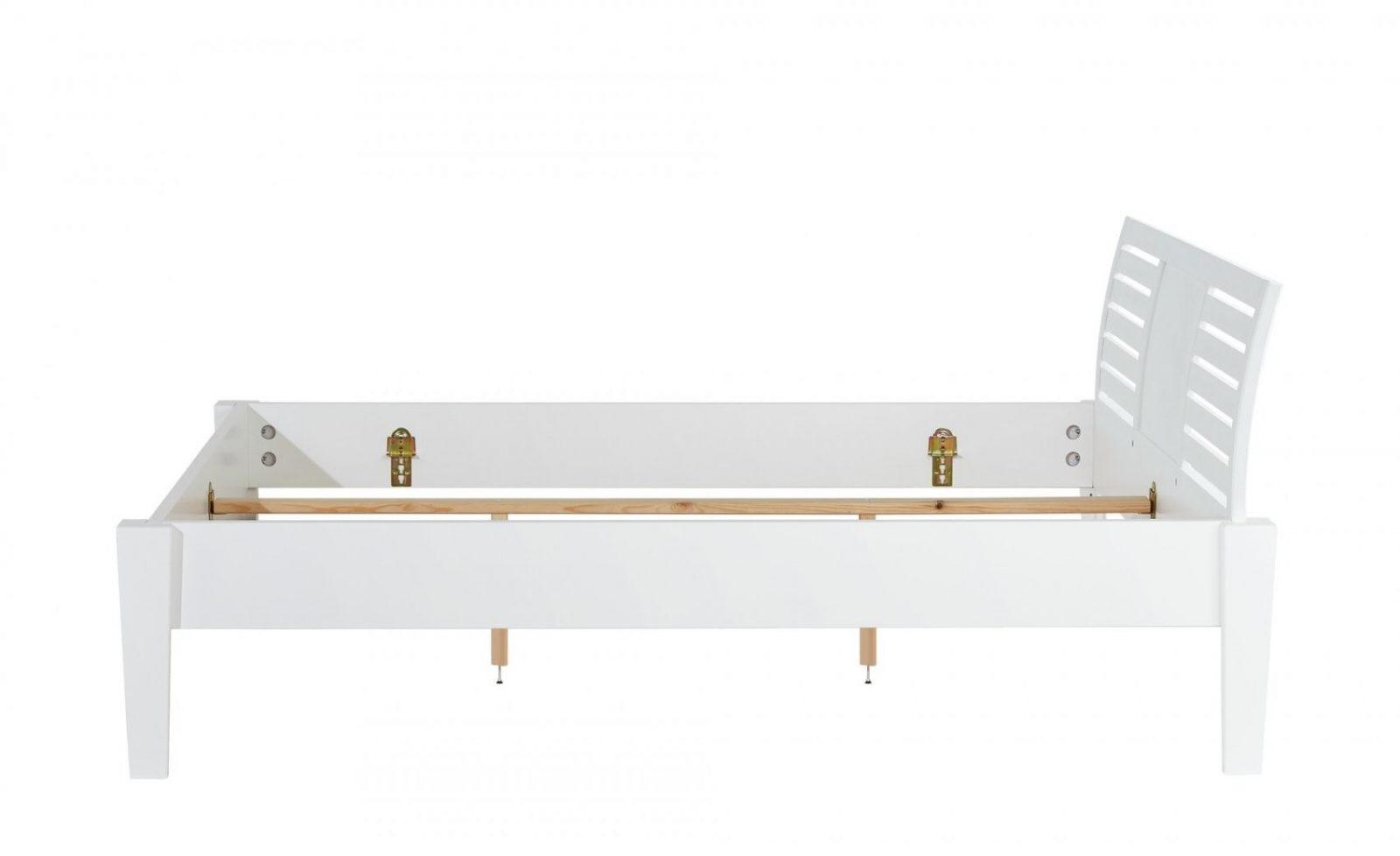 Massivholzbettgestell 160X200  Weiß  Buche Timber  160 Cm Buche von Bettgestell Weiß 160X200 Photo