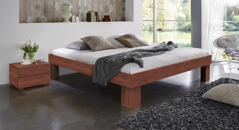 Massivholzliege Aus Buche Oder Kernbuche  Lucca Komfort von Bett 200X200 Komforthöhe Photo
