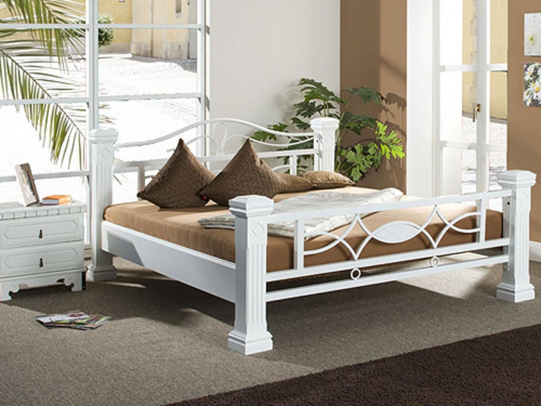 Metallbett 180X200 Weiß Schönheit Metall Bett Kreatives Haus Design von Bett Metall Weiß 180X200 Bild
