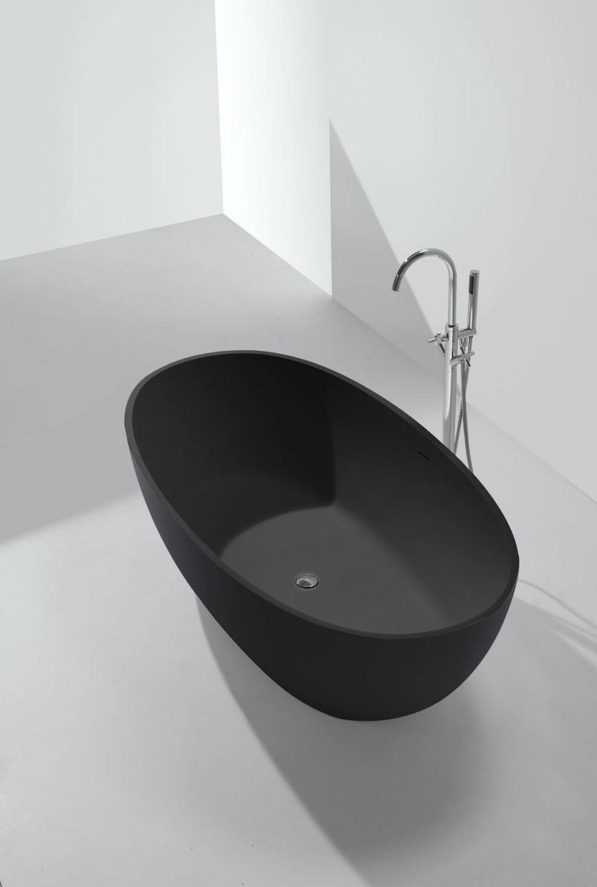 Mineralgussbadewanne Ductiloschwarz (Freistehend)  B Athroom von Freistehende Badewanne Schwarz Photo