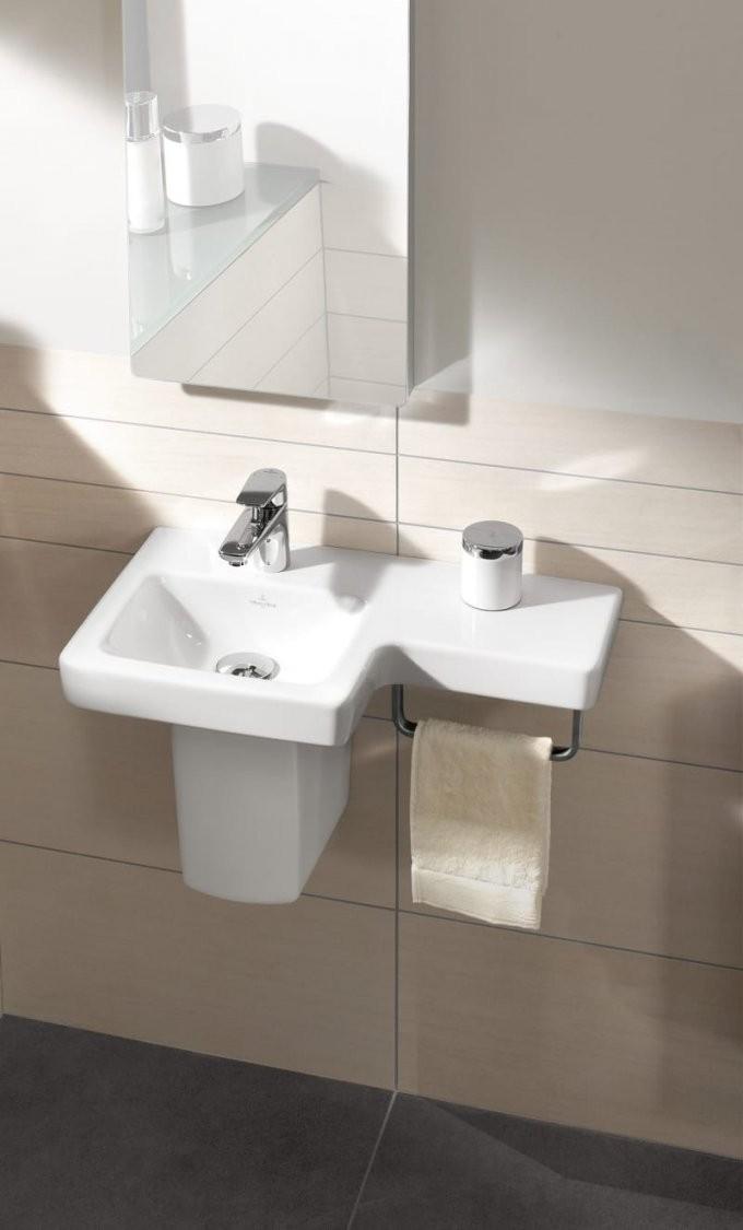 Mit Diesen Handgriffen Richten Sie Ihr Kleines Bad Ein  Ad von Waschbecken Für Kleine Bäder Photo
