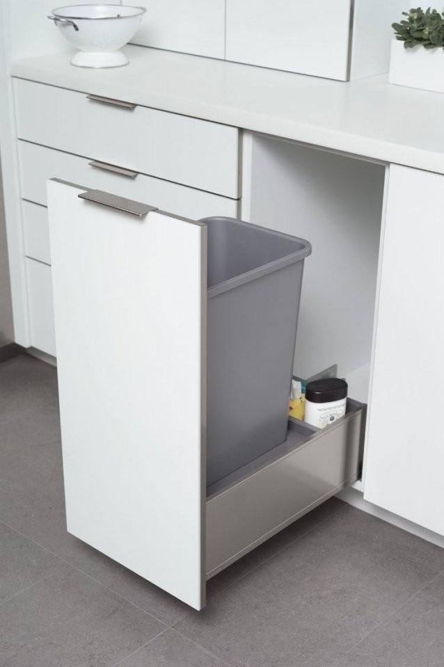 Moderne Einbaumülleimer Für Die Küche  Ideen Und Tipps von Mülleimer Einbauküche Bild