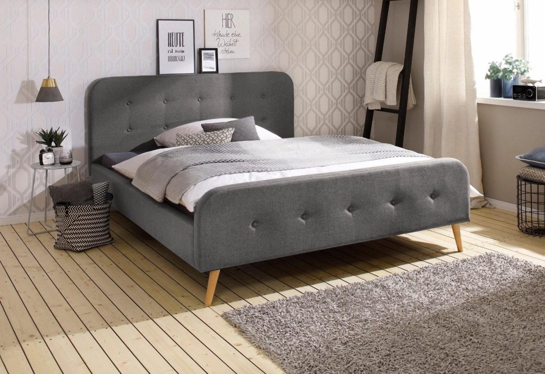 Modernes Polsterbett Grau 160X200 Cm Bett Bettgestell  Eur 21900 von Bett Grau 160X200 Bild