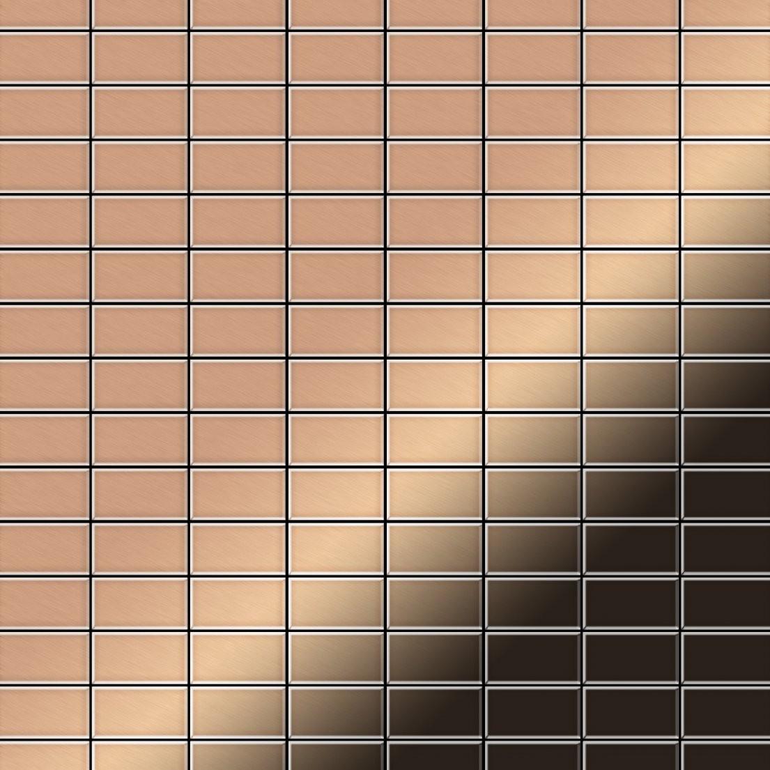 Mosaik Fliese Massiv Metall Kupfer Gewalzt In Kupfer 16Mm Stark von Mosaik Fliesen Außenbereich Bild
