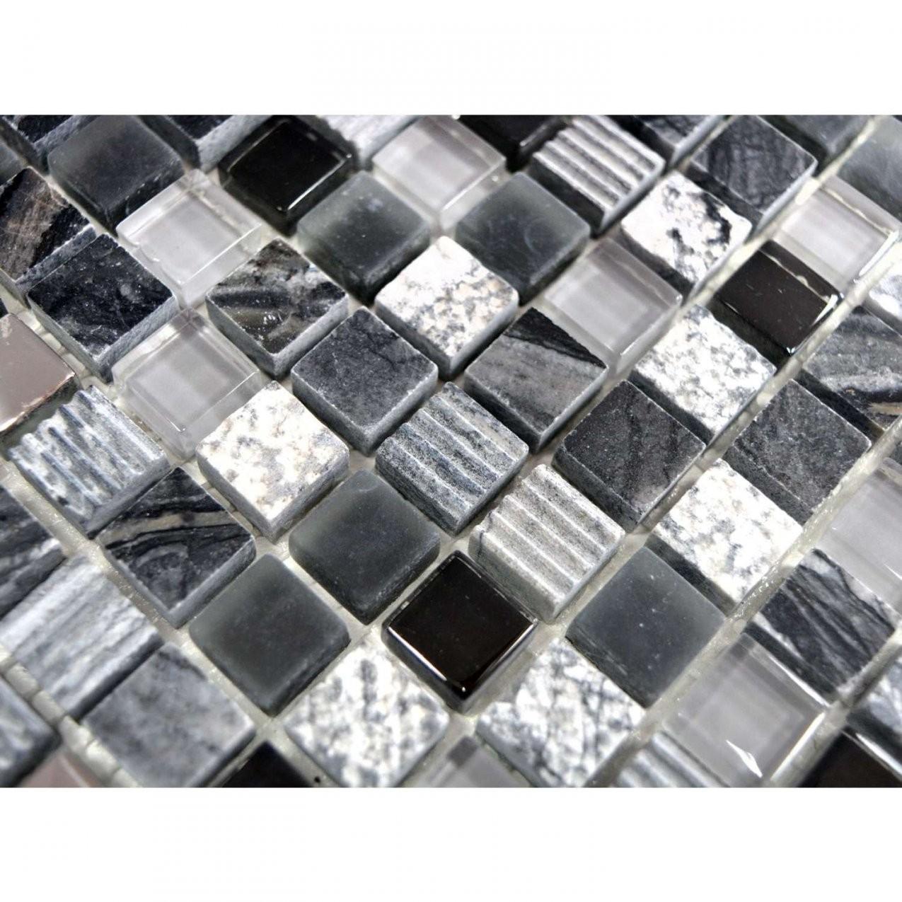 Mosaik  Grauschwarzsilber  Günstig Kaufen von Mosaik Fliesen Günstig Photo