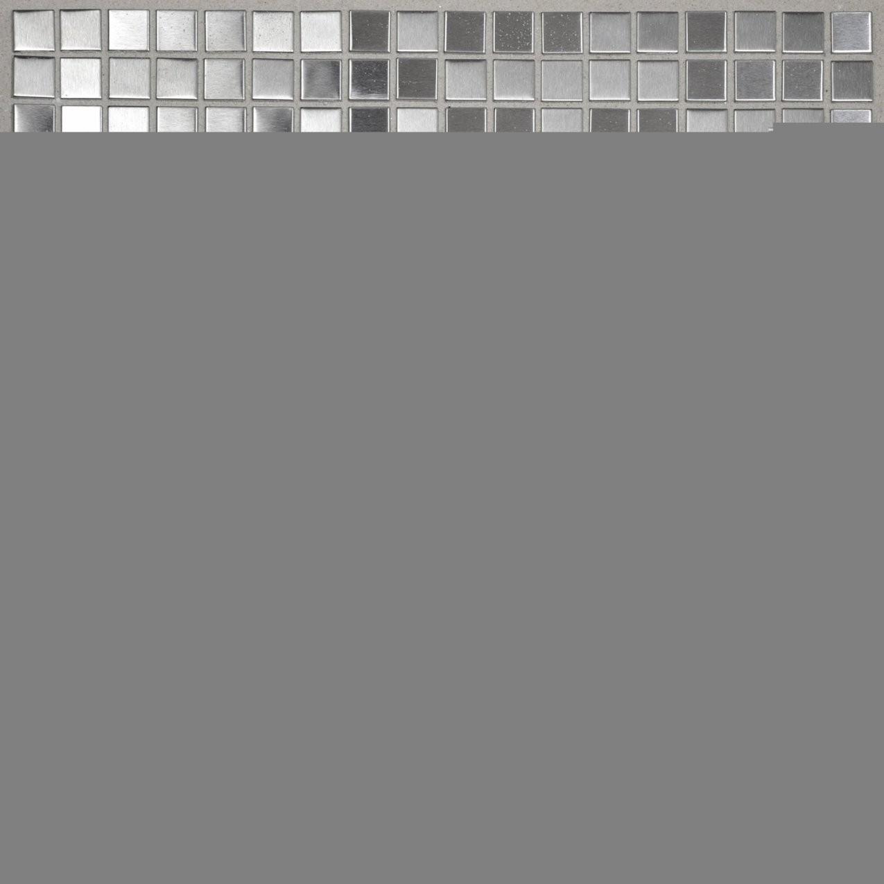 Mosaik Metall Edelstahl 30 Cm X 30 Cm Kaufen Bei Obi von Mosaik Fliesen Obi Photo