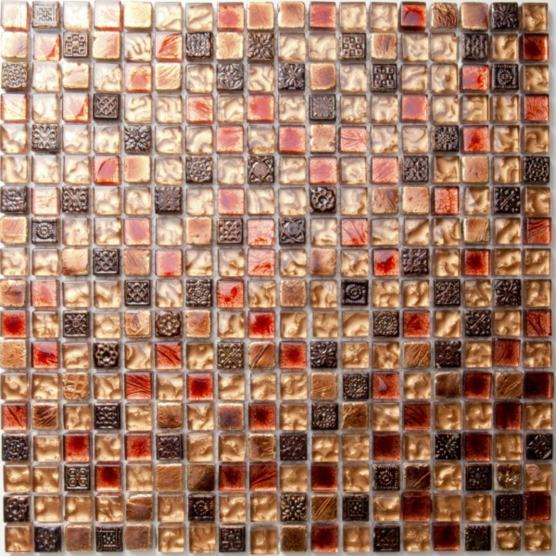 Mosaike Mosaikfliese Toronto Rot Gold Braun 30X30Cm Jetzt Günstig von Mosaik Fliesen Günstig Photo