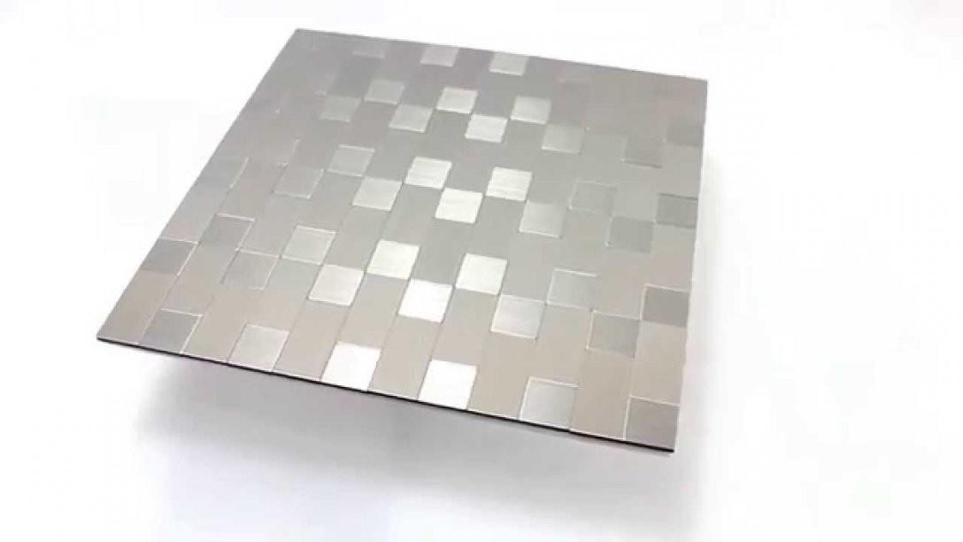 Mosaikfliesen Selbstklebend Metall Silber Mix  Youtube von Mosaik Fliesen Selbstklebend Photo