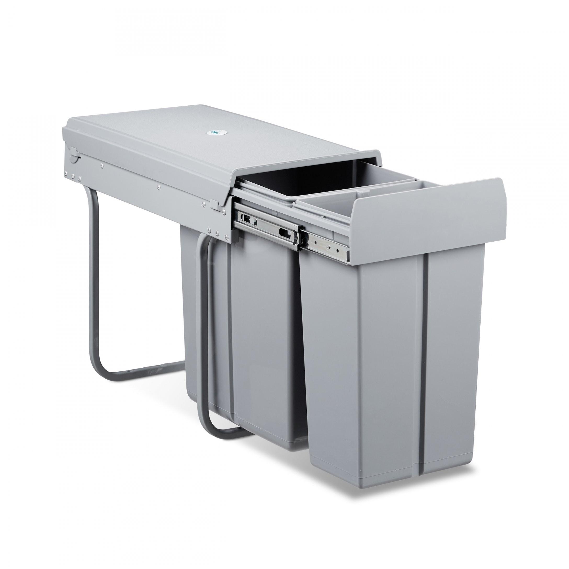 Müllltrennsystem 30 L Abfallsammler Doppelmülleimer Abfallsystem von Doppel Mülleimer Küche Bild