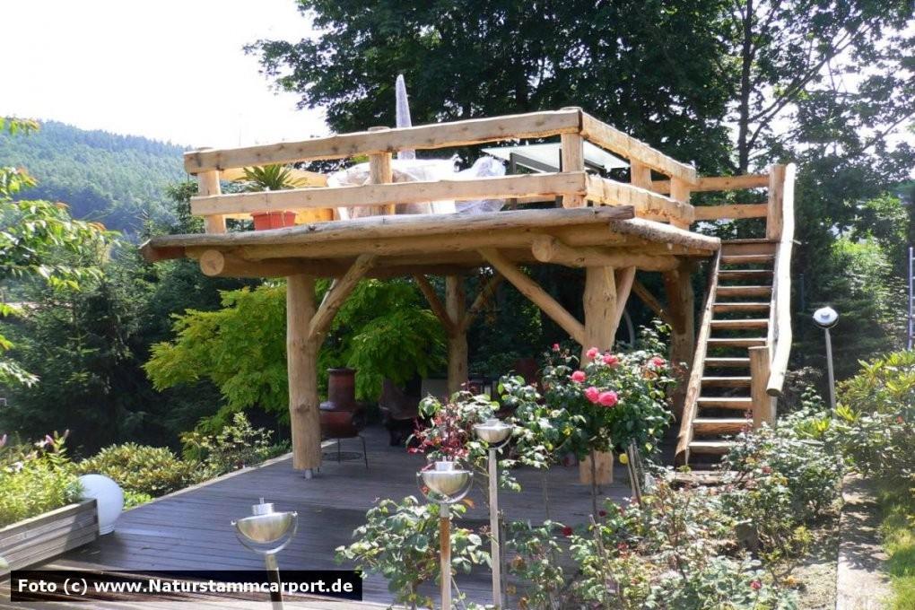 Naturstamm Carportbau  Beratung Planung Und Montage • Ihr Carport von Überdachte Terrasse Selber Bauen Photo