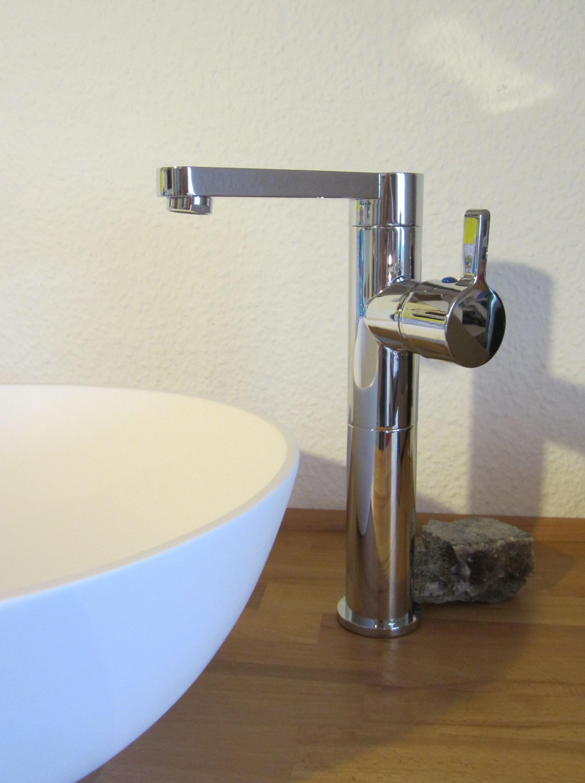 """Nero Badshop  Bad Waschtisch Armatur Aufsatz Waschbecken """"riga von Höhe Waschbecken Bad Bild"""