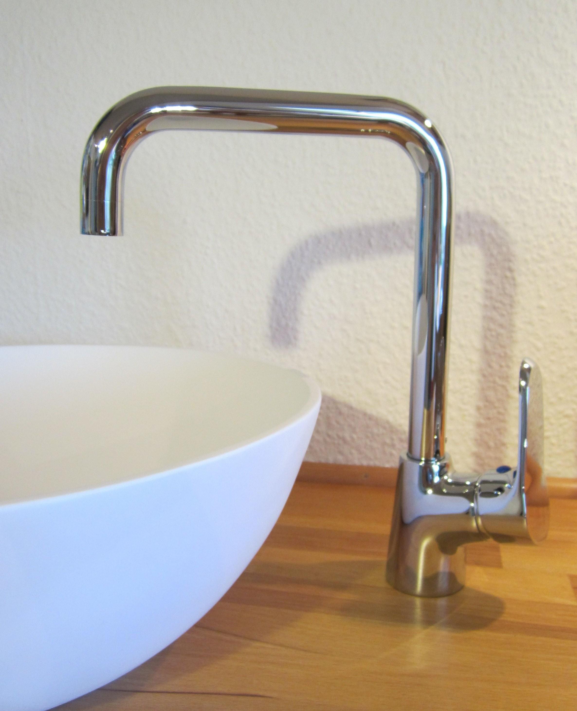 """Nero Badshop  Moderne Hohe Bad Waschtisch Armatur """"rio""""  Online Kaufen von Höhe Waschbecken Bad Bild"""