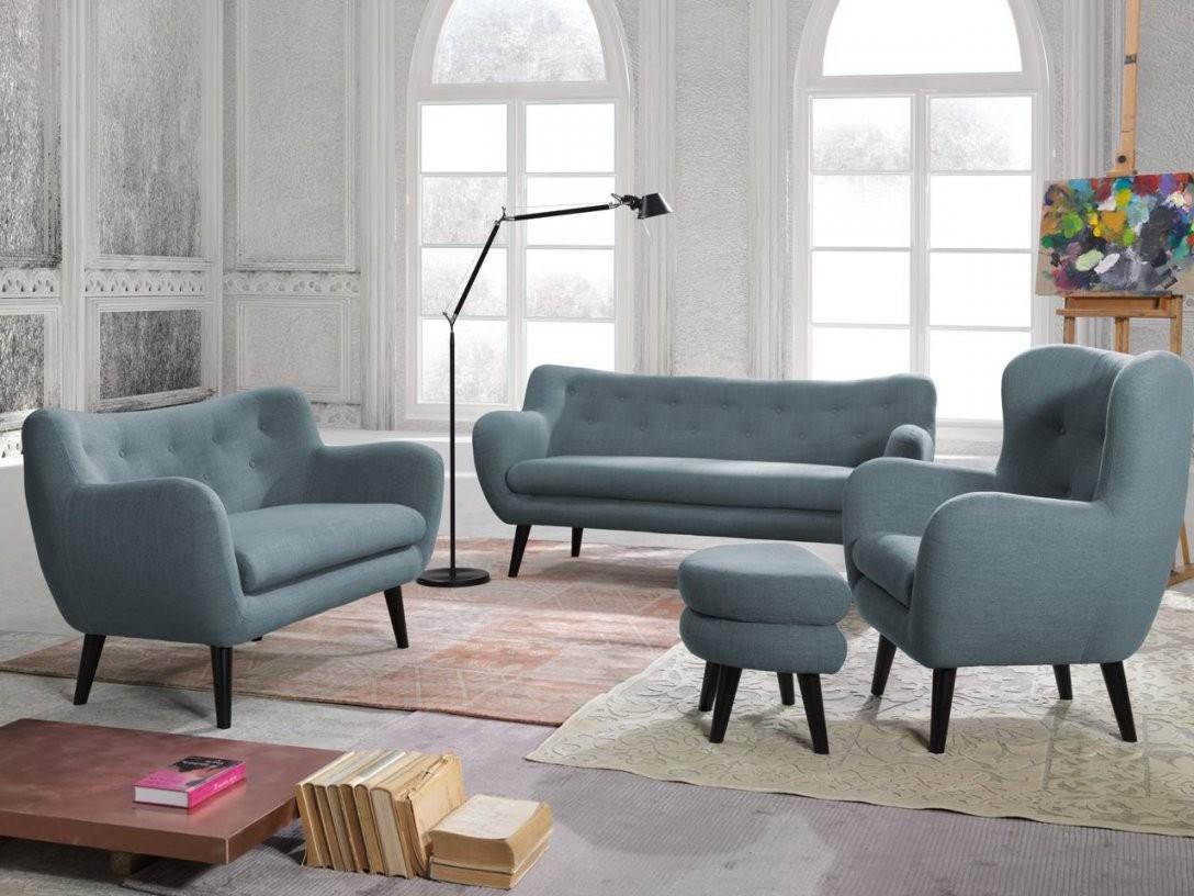 New Look Polstergarnitur George Bestehend Aus Hocker + Loungesessel von 3 Sitzer Sofa Und 2 Sessel Photo