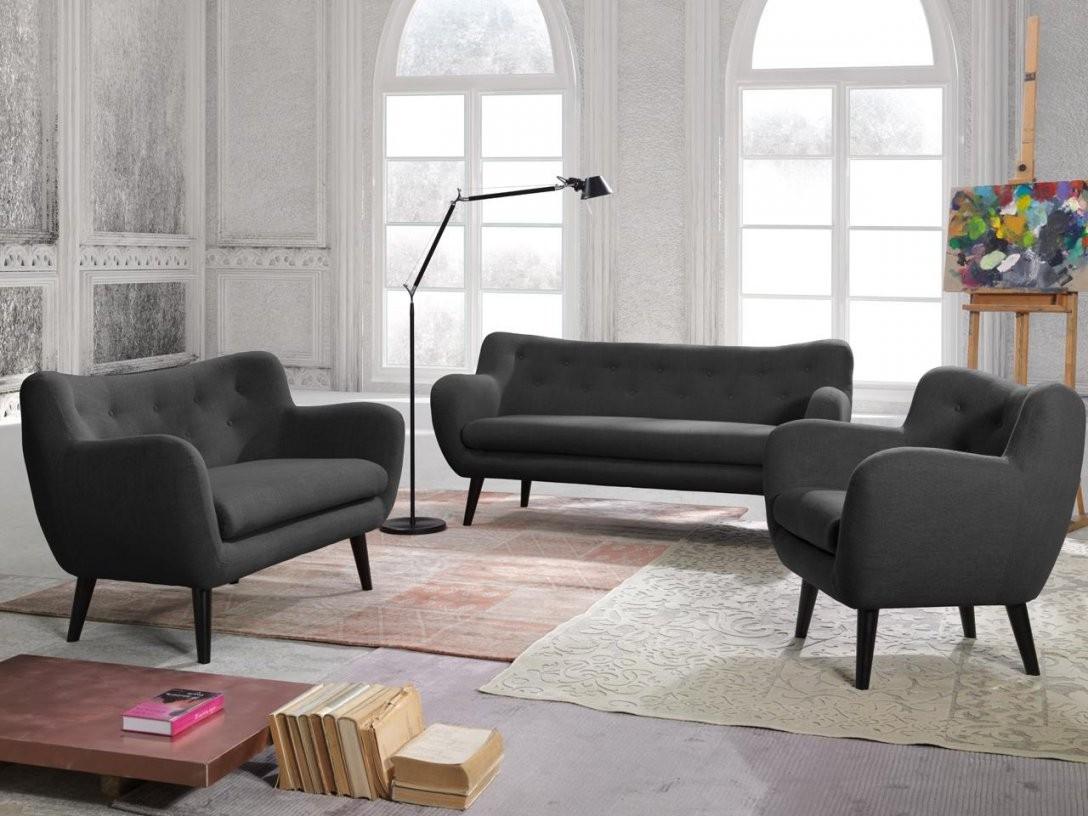 New Look Polstergarnitur George Bestehend Aus Sessel + 2Sitzer Sofa von 3 Sitzer Sofa Und 2 Sessel Bild