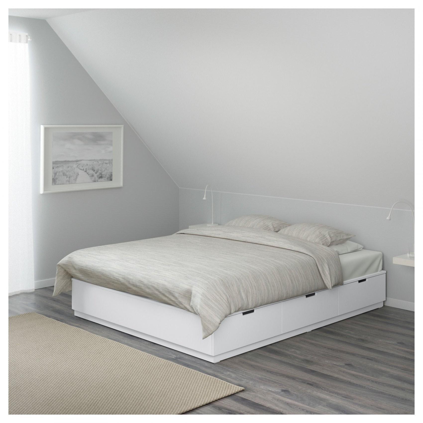Nordli Bettgestell Mit Schubladen  140X200 Cm  Ikea von Bett Weiß 140X200 Ikea Bild