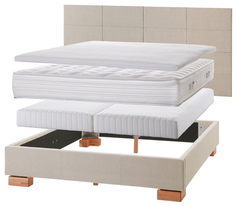 Normales Bett Zum Boxspringbett Umbauen  Einlegesystem Kingston von Boxspring Matratze Für Normales Bett Photo