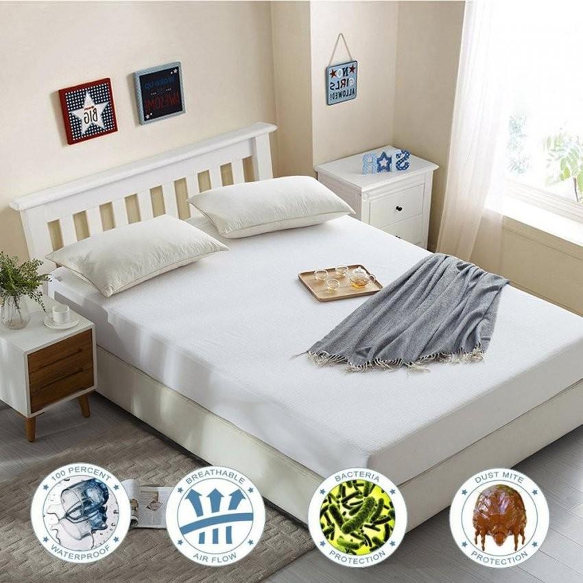 Nur Für Russische 160X200 Cm Terry Matratze Deckt Ausgestattet Blatt von Nur Matratze Als Bett Photo