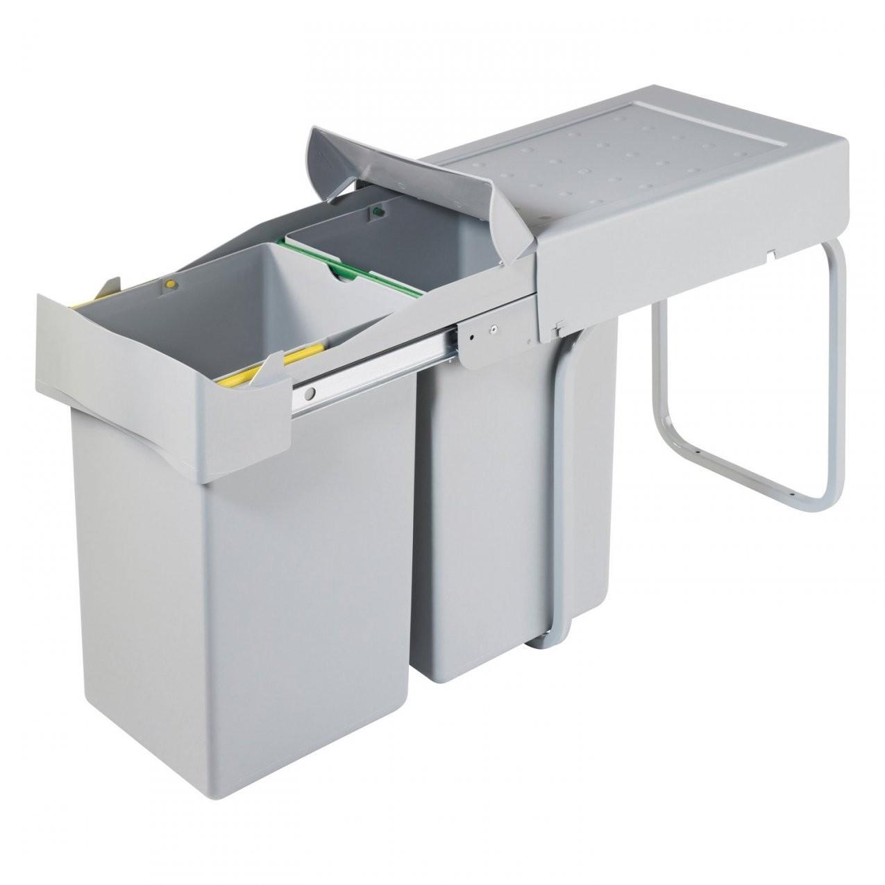 Obi Einbaumülleimer 2 X 14 L Kaufen Bei Obi von Mülleimer Küche Automatischer Auszug Photo