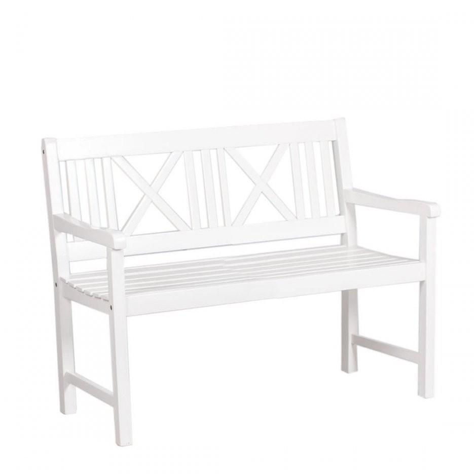 gartenbank wei 2 sitzer haus bauen. Black Bedroom Furniture Sets. Home Design Ideas