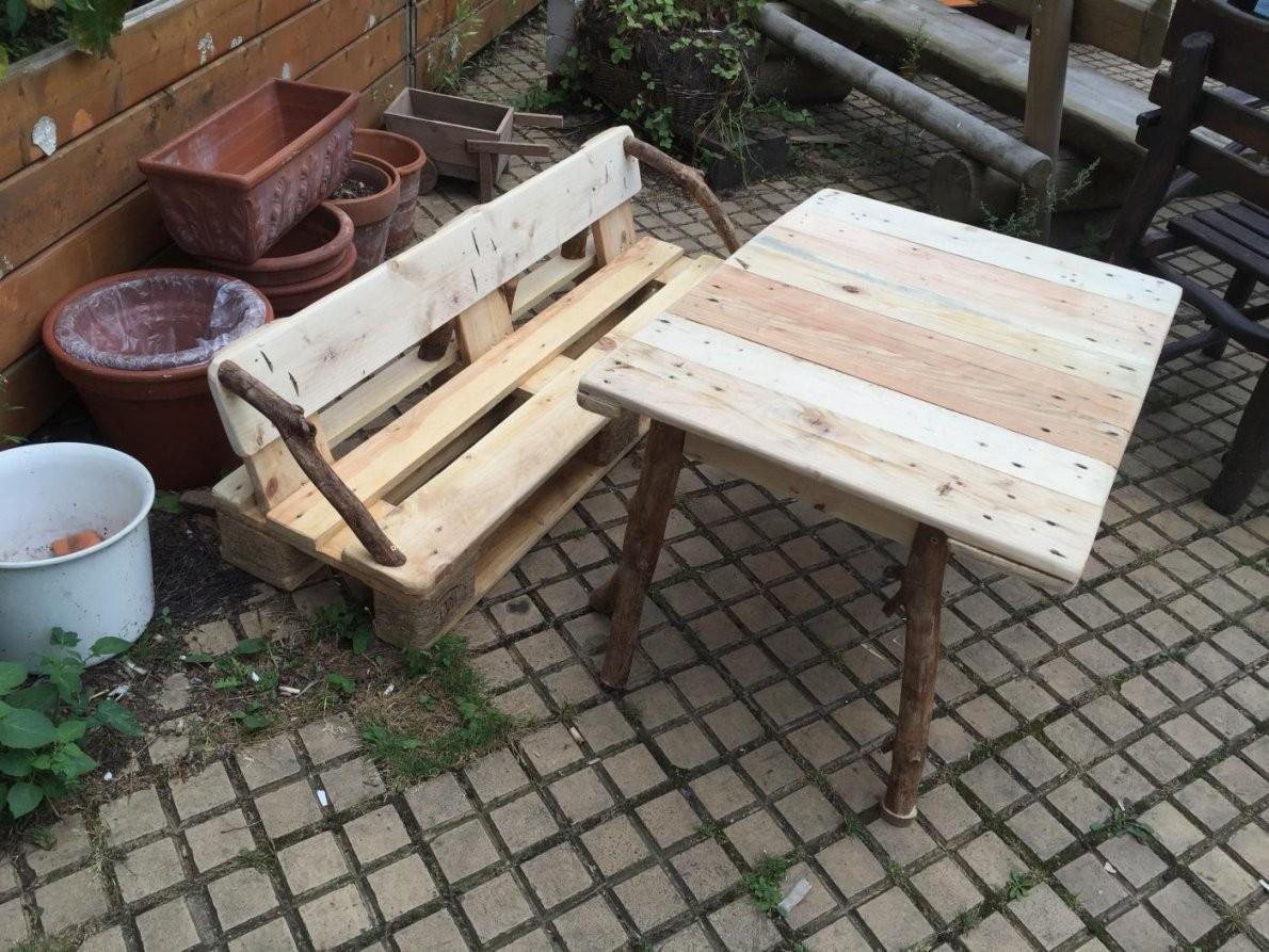 Palettenbank Tisch Für Kinder Gartenkindersitzgruppe von Sitzbank Kind Garten Bild