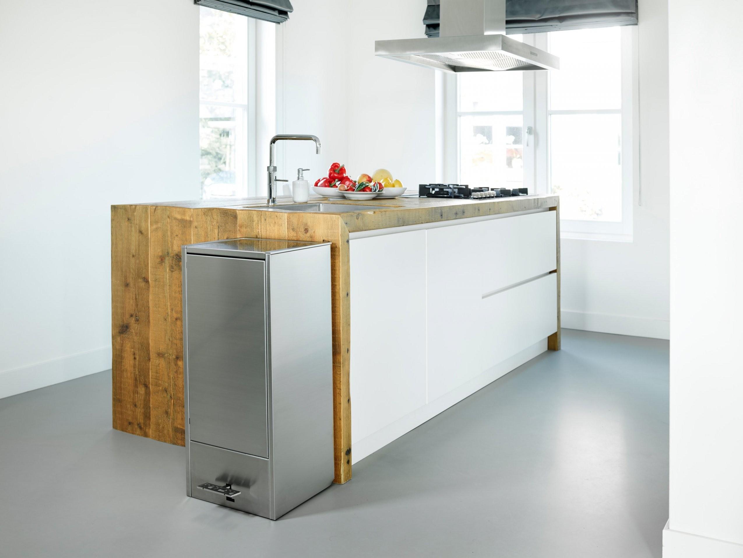 Papier Mülleimer Küche  Interdesign Una Papierkorb Mit Griffen von Mülleimer Küche Design Photo