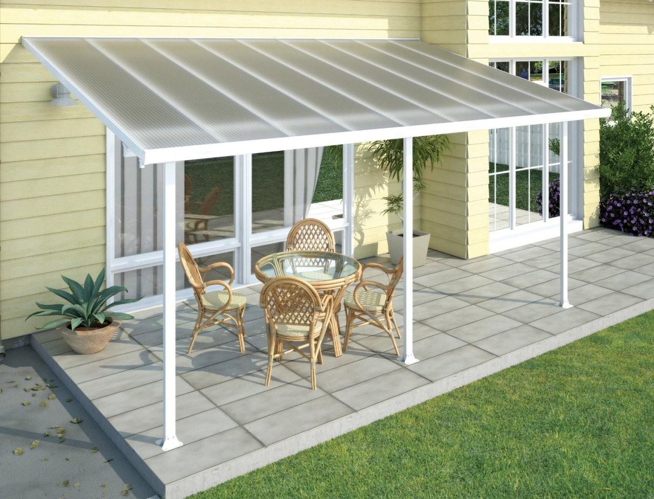 Perfekte Terrassenüberdachung – Terrassendach Im Garten von Terrassenüberdachung Freistehend Holz Selber Bauen Bild