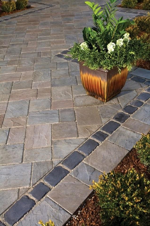 Pflastersteine Verlegen  65 Tolle Ideen Und Inspirationen von Steine Im Garten Verlegen Bild