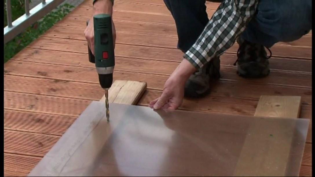 Plexiglas® Tv How To Balkonbrüstung Selbst Bauen  Youtube von Windschutz Terrasse Selber Bauen Bild