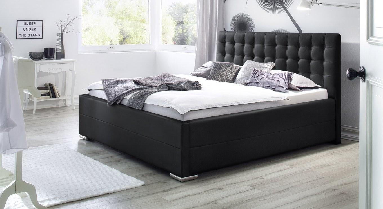 Polsterbett 180X200 Cm Mit Lattenrost Und Bettkasten  Pattani von Doppelbett 180X200 Mit Bettkasten Bild