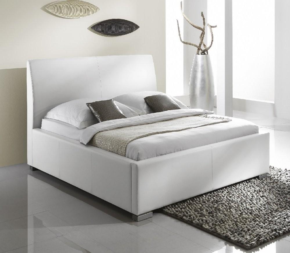 Polsterbett Altora Weiß  Polsterbetten  Betten von Polsterbett Leder 140X200 Bild
