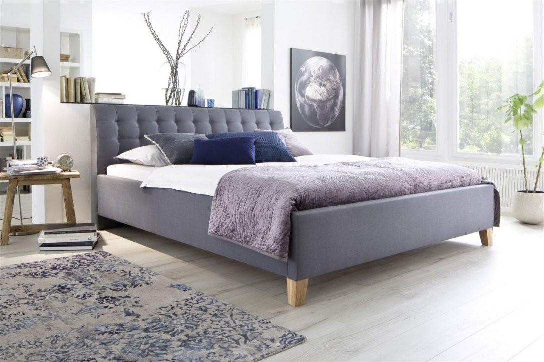 Polsterbett Bett Doppelbett  Dennis 180X200 Cm Stoffbezug Grau von Bett 180X200 Grau Bild