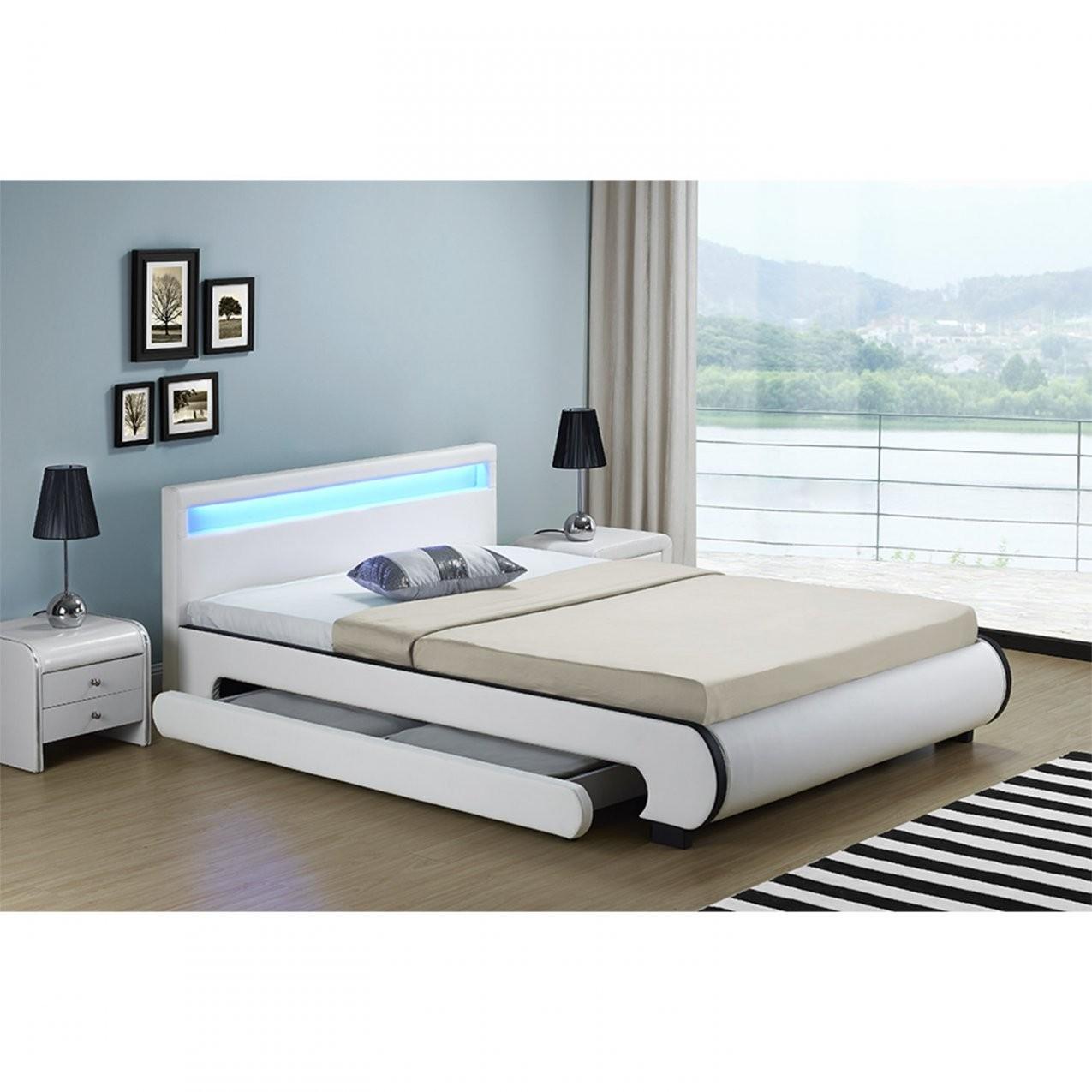 Polsterbett Bilbao Mit Bettkasten 140 X 200 Cm  Weiß von Bett Mit Bettkasten Günstig Photo