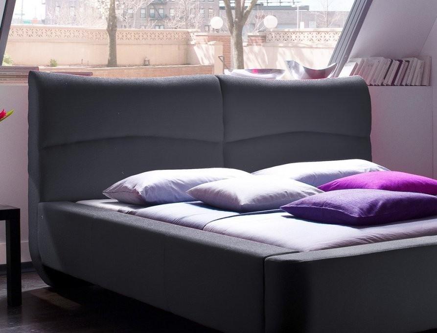Polsterbett Cloude Bett 160X200 Cm Anthrazit Mit Lattenrost Matratze von Bett Mit Lattenrost Und Matratze 160X200 Bild