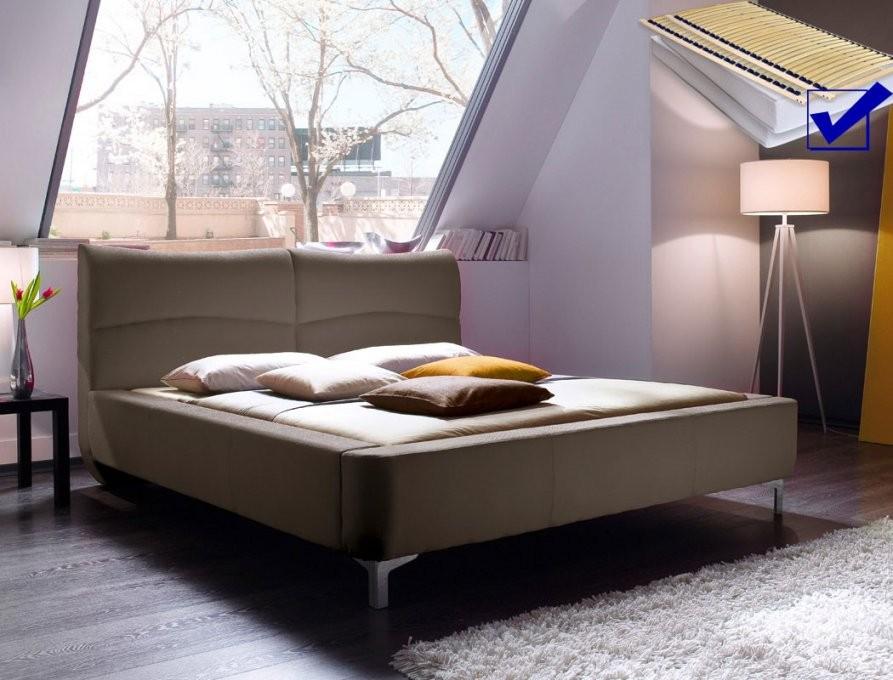 Polsterbett Cloude Bett 160X200 Cm Cappuccino Mit Lattenrost von Bett Mit Lattenrost Und Matratze 160X200 Bild