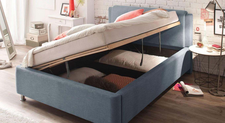 Polsterbett Günstig Mit Stoffbezug Und Bettkasten  La Marsa von Bett Mit Bettkasten Günstig Photo