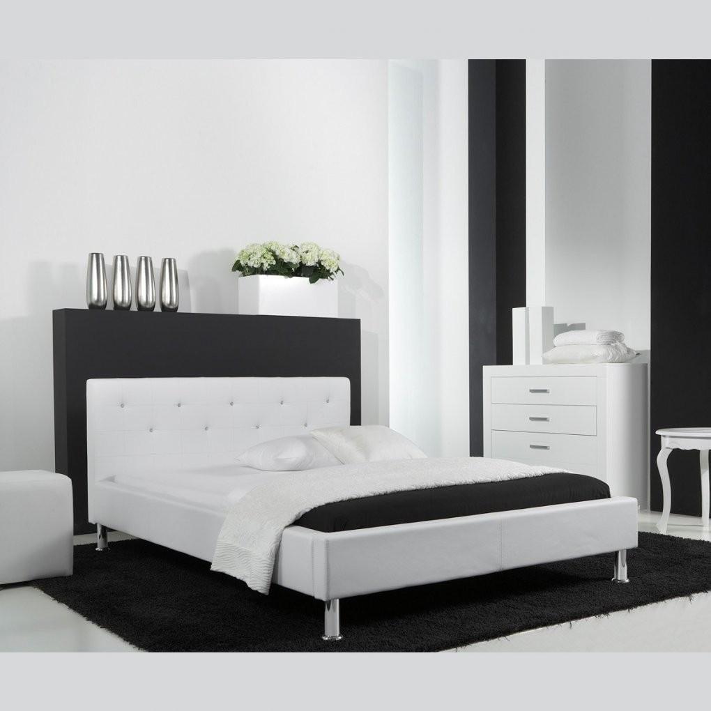 Polsterbett Kunstlederbett Bett 140X200 In Weiß Mit Swarovski von Kunstleder Bett Weiß 140X200 Bild