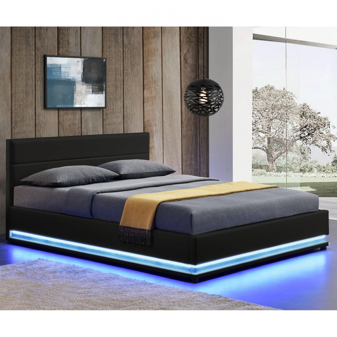 Polsterbett Led Doppelbett Bett Bettgestell Lattenrost von Led Bett 180X200 Photo