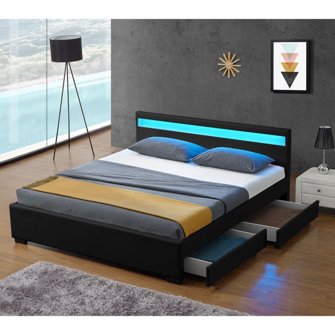 Polsterbett Lyon Mit Bettkasten 140 X 200 Cm  Schwarz  Juskys von Polsterbett Mit Bettkasten 140X200 Photo